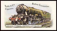 Pacific Express Papyrus L.N.E.R #17 Railway Locomotives, Cigarettes Card (C145)