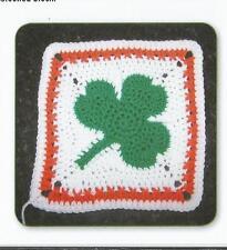 Crochet Pattern ~ Irish Pride Square Shamrock ~ Instructions