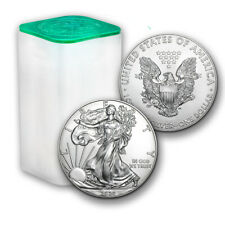 2020 1 oz American Silver Eagle - Lot, Roll of 20 - Twenty $1 Coins in Mint Tube