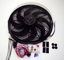 16 inch radiator cooling fan super heavy duty motor and relay thermostat kit
