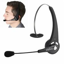 Over Head Trucker Mic Bluetooth Wireless Headset for Smartphone Tablet Laptop