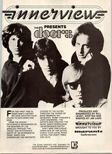 1980 VINTAGE 8X11 INNERVIEW RADIO PROMO PRINT Ad FOR BAND THE DOORS JIM MORRISON