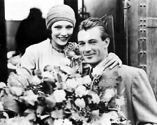 GARY COOPER 8x10 PICTURE GREAT CANDID PHOTO WITH WOMAN