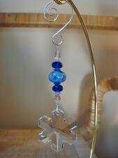 =^..^= Snowflake Ornament made with 35mm Swarovski Crystal #8811/6704 LOGO 14L