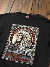 1992 Vintage Harley Davidson 3D Emblem Indian Chief T-Shirt Sweatshirt • Medium