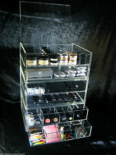Large Acrylic Makeup Organizer Drawers Vanity Stackable Cosmetic Storage Cube