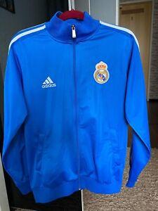 Adidas Real Madrid Trainingsjacke Blau , Jacke  Größe L Wie Neu