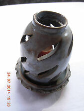 Greek candle holder from Cyprus 5 inches tall, 4 inches at widest