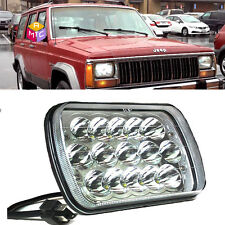 1x LED 7X6 5X7 LED Sealed Beam Headlight Replacement for Jeep Cherokee XJ Trucks