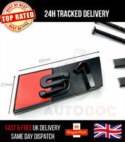 Audi S1 Gloss Black Front Grille & Boot Lid Badge Emblems Stealth Glossy Black
