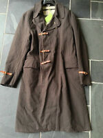 PAUL SMITH MAINLINE Long Brown Epsom Coat Jacket  Heavy Duty  L  42  52