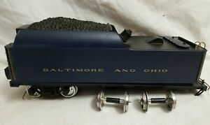 ARISTOCRAFT G SCALE B&O COAL TENDER w/ SOUND (from a 4-6-2 Pacific) - FOR REPAIR