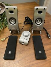 Logitech Z-3 2.1 Speaker System Front Speakers W/ Remote ONLY NO SUB Tested F/S
