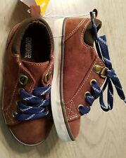 Gymboree ARTIC EXPLORER Faux Brown Suede Blue laces Sneakers Shoes sz 9 NWT BOY
