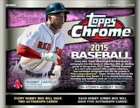 2015 Topps Chrome Baseball Complete Your Set Pick 25 Cards From List