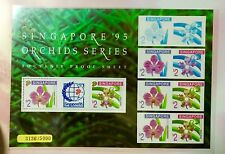 Singapore stamps - 1995 Flowers Orchid PROOF imperf Sheet Limited 5000 fresh MNH