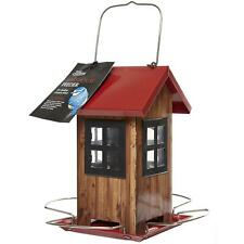 Tom Chambers Outdoors Hanging Bird Seed House With Easy Fill Removable Roof, Red