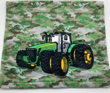 John Deere Tractor Green Camo Bath Hand Towel Farm Theme Bathroom NEW