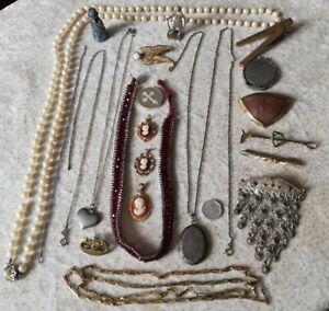 Schmuck Konvolut, mit 835 Silber, Bastel, Sammlung, Kette, Brosche....usw...