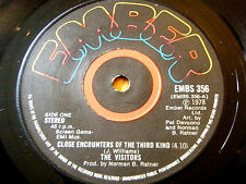 """THE VISITORS - CLOSE ENCOUNTERS OF THE THIRD KIND  7"""" VINYL"""