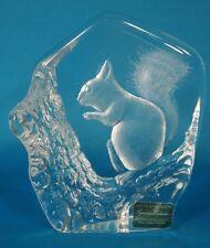 Mats Jonasson Crystal Squirrel Artwork Handmade in Sweden