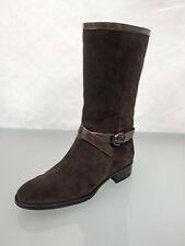 970€ TOD`S TODS Designer Leder & Wildleder Stiefel Boots Gr.39 Schuhe Braun