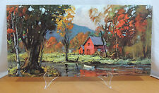AUTUMN REFLECTIONS By Shumaker Mid Century Modern DAC Lithograph on Cardboard