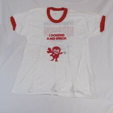 Segram's Gin I Downed A Red Baron T-Shirt XL (46-48) Made in U.S.A.