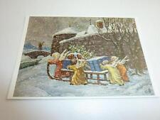 "vintage blank greeting cards Unused ARS SACRA  ""Keussen ""it Christmas yet""0010"