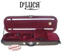 D'Luca Pro Oblong Full Size 4/4 Violin Case With Hygrometer