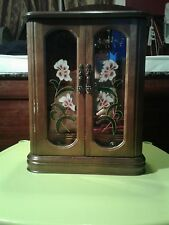 Vintage Abby Jewlery Wooden Double Stained Glass Door