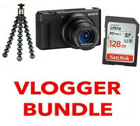 SONY ZV-1 Digital Camera Vlogger Kit  (Black) 128 GB SD + TRIPOD /  Stock in UK