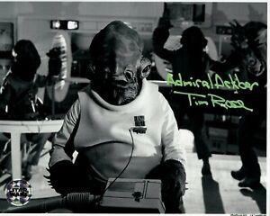 TIM ROSE signed Autogramm 20x25cm STAR WARS In Person autograph COA ACKBAR JEDI