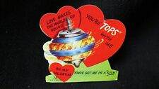 Vintage Top Valentine Card c. 1940s