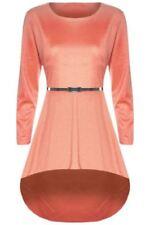 Vestiti da donna a manica lunga rosa asimmetrici