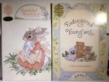 4 X Stitch Leaflets Gloria & Pat Baby's 1st Yr Rabbit Precious Moments Animal