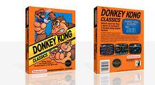 Donkey Kong Classics Nes Ersatz Spiel Hülle Box + für Work (Kein Spiel)