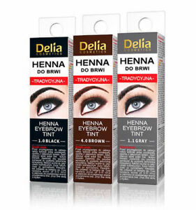 DELIA HENNA TRADITIONAL EYEBROW EYELASHES TINT POWDER KIT SET (ONE TIME USE)