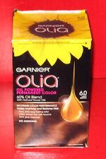 GARNIER OLIA OIL POWERED PERMANENT COLOR 6.0 ~  LIGHT BROWN ~ 1 kit)