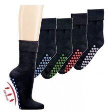 2 Paar Homesocks ABS Anti-Rutsch Stopper-Socken schwarz + Noppen Gr. 35 - 50 Neu