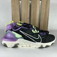 Nike React Vision Gravity Purple Volt Fashion Sneakers CD4373 002 Mens SIZE 10 *