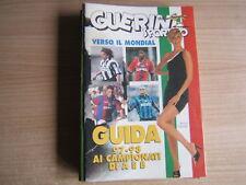 GUERIN SPORTIVO=INSERTO POCKET GUIDA AI CAMPIONATI DI A E B 1997/98