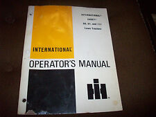 1978 International Cadet 80 81 111 Lawn Tractor Operator's Manual