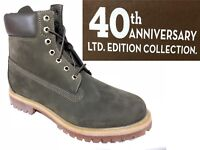 "TIMBERLAND MENS 40TH ANNIVERSARY LIMITED 6"" INCH PREMIUM WATERPROOF GREEN BOOTS"