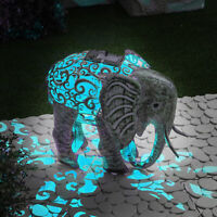 GloBrite Metal Silhouette Elephant Garden Patio Path Solar LED Light Ornament