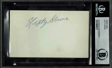 LEFTY GROVE  SIGNED INDEX CARD AUTOGRAPHED  BECKETT BAS