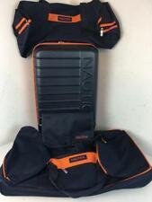 Nautica Sea Tide 4-Piece Luggage Set(Navy/Orange)