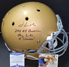 Julian Love Notre Dame Fighting Irish Signed Full Size Helmet Beckett WITNESS
