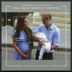 Togo Royalty Stamps 2014 MNH Prince George Royal Baby William & Kate 1v S/S