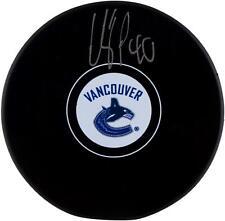 Elias Pettersson Vancouver Canucks Signed Hockey Puck - Fanatics